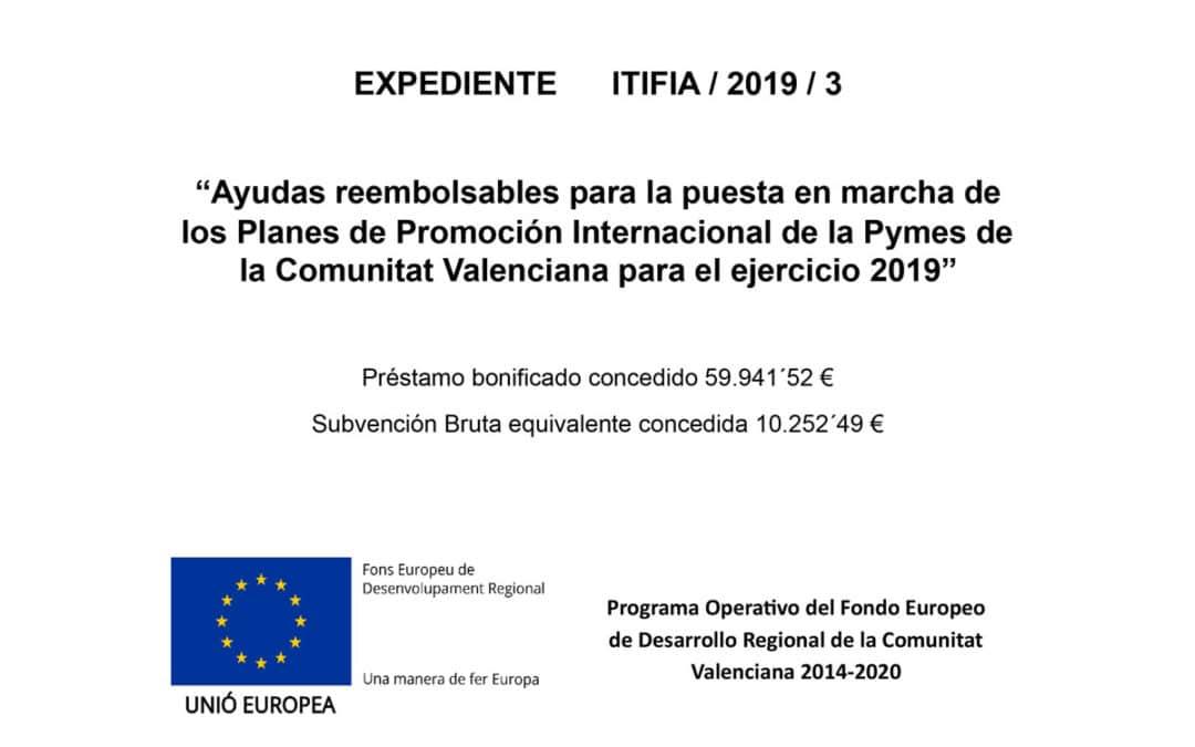 Ayuda puesta en marcha del Plan de Promoción Internacional de la Pyme