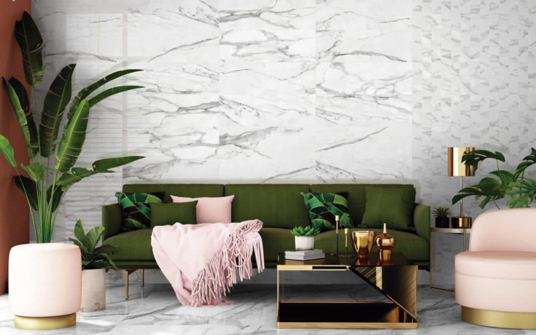 Porcelánico efecto mármol para los diseños más elegantes