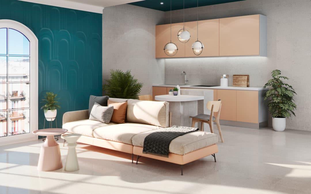 Diseños de apartamentos con cerámica que te encantarán